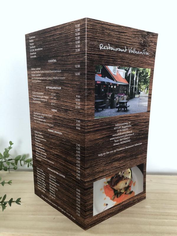 Menukaart Restaurant Valkenisse 2021